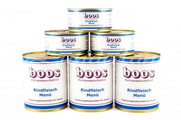 Boos-Rindfleisch-Menü